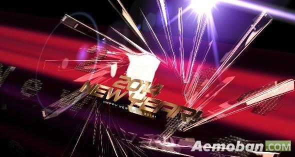 视频素材-新年片头高清视频素材-Happy New Year 2014